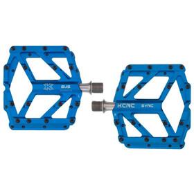 KCNC Pedia 2 Pedales Plataforma Delgados para MTB/BMX, blue
